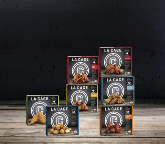7 nouveautés signées La Cage - Brasserie sportive mettant en vedette du poulet 100% Québec (Groupe CNW/La Cage - Brasserie sportive)