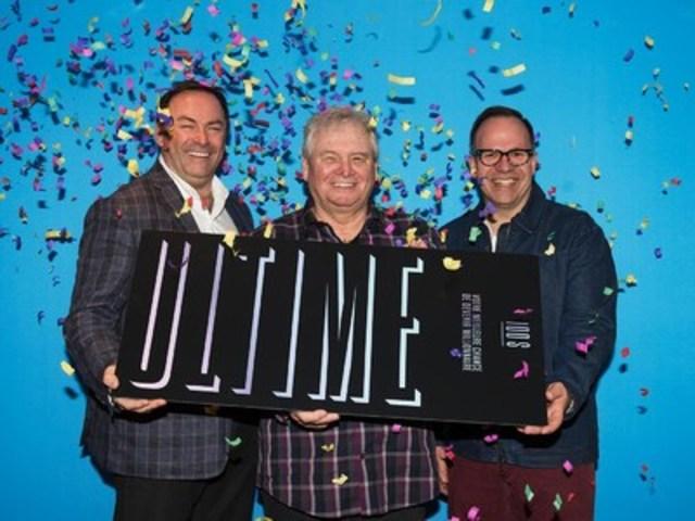 Gaétan Boucher, Michel Blain et Marc Laroche sont l'un des nombreux groupes ayant mis la main sur 1 000 000 $ à la loterie 100 $ ultime dont les tirages étaient diffusés à TVA jeudi soir dernier. (Groupe CNW/Loto-Québec)