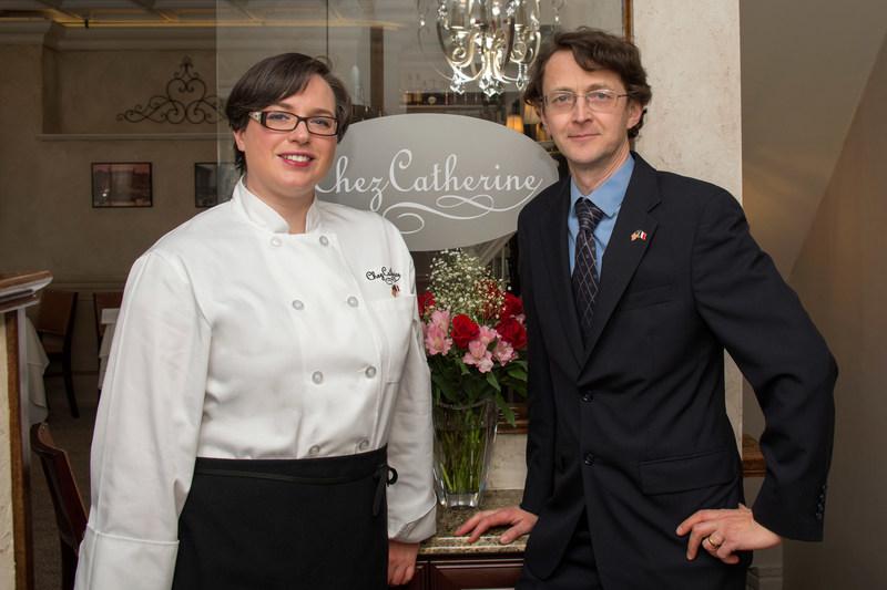 Chez Catherine's Stephan Bocket & Executive Chef Christine Migton