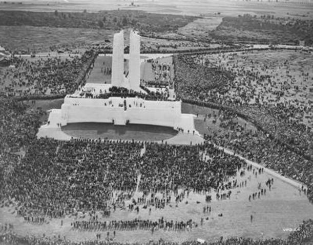 Vimy Pilgrimage, 1936. Library and Archives e011184988. Vimy  - Beyond the Battle will be presented at the ...