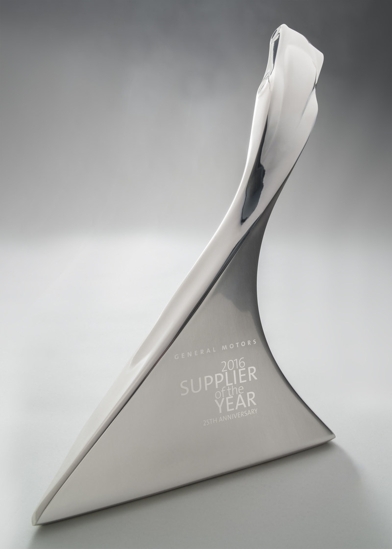 The 2016 GM Supplier of the Year award.