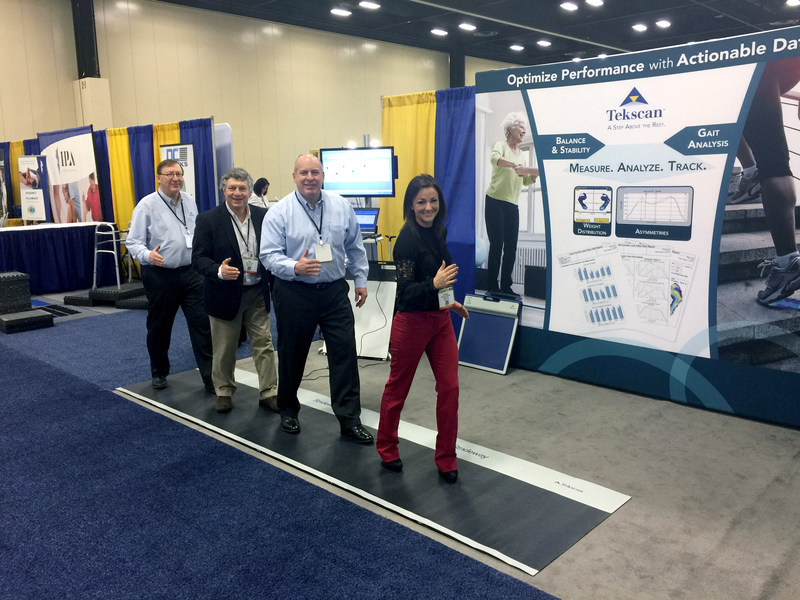 The Tekscan Team shows off the new Strideway System at APTA 2017!