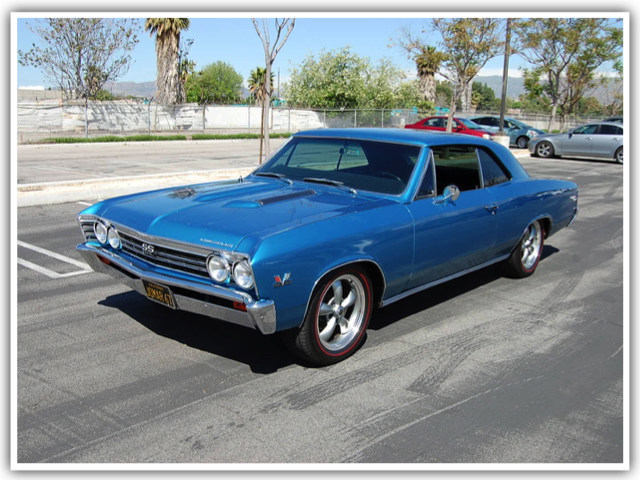 1967 Chevelle SS with a frame-off restoration is one the the 300+ Hollywood vehicles up for bid as Picture Car Warehouse makes room for new acquisitions.