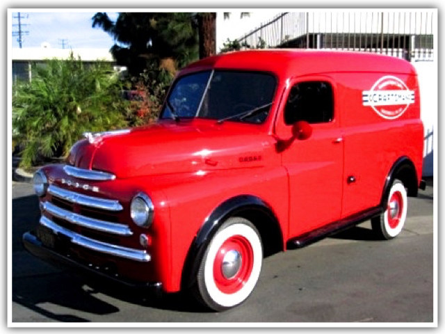 1948 Dodge panel truck is among the classic vehicles available in Tiger Group's April 27th online auction of cars, trucks, motorcyles and other vehicles used in movies, TV shows, commercials and videos.