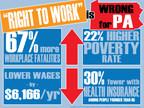 Pennsylvania Labor Leaders and Legislators Denounce 'Right to Work' Legislative Package as Anti-Working Class Fraud