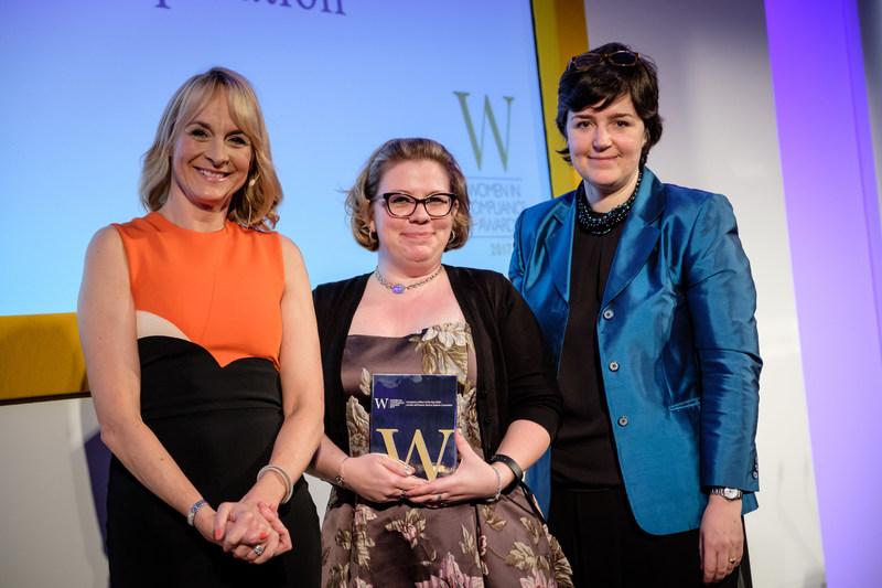 Vectrus Ombudsperson, Jennifer McPherson, receives the Compliance Officer of the Year, EMEA at the 2017 Women in Compliance Awards held in London, U.K. on March 30, 2017.