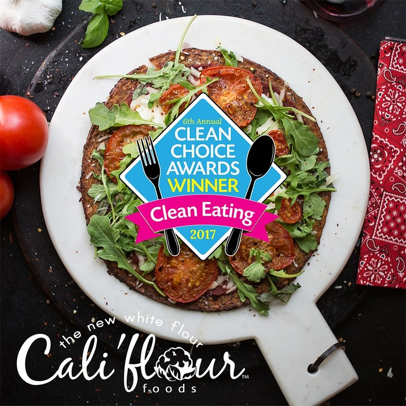 """Cali'flour Foods just won the Clean Choice Award in """"Top 5 Coolest New Finds of 2017"""""""