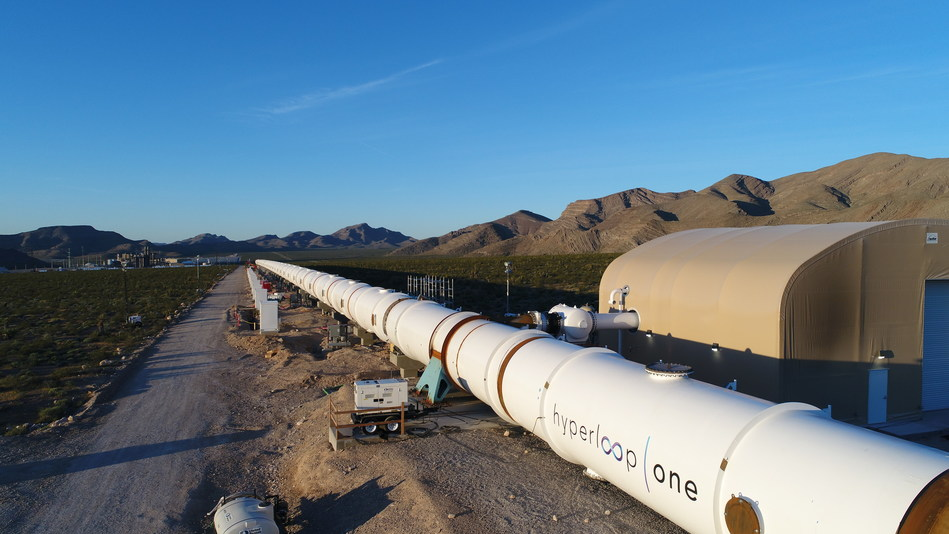 Hyperloop One announces completion of tube installation at Las Vegas DevLoop, world's first full-system test track.