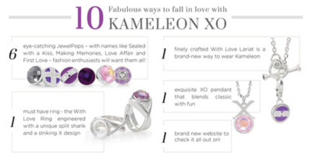 Kameleon Jewelry celebrate's their 10 year anniversary with the new love filled XO Anniversary collection! (CNW Group/Jewelpop international)
