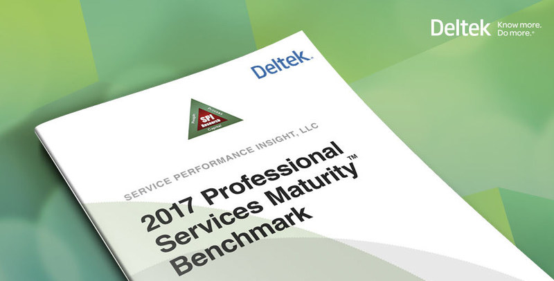 Get a copy of the SPI Research 2017 Professional Services Maturity Benchmark Report, compliments of Deltek at http://bit.ly/spireport