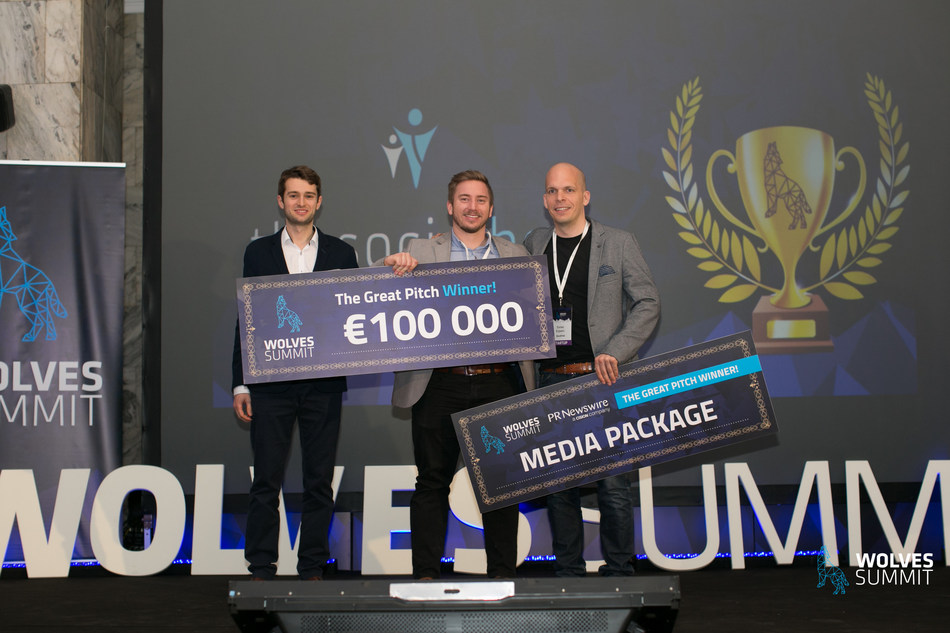 Winners of the Great Pitch Competition (PRNewsfoto/Wolves Summit)