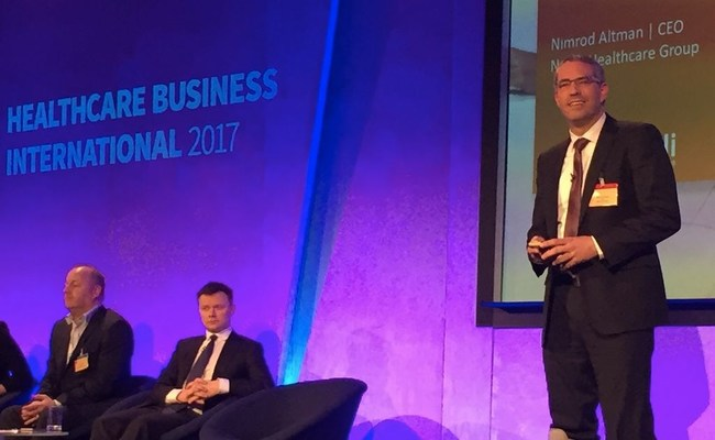 Nimrod Altman, CEO of Natali Healthcare Group delivered a speech at HBI 2017 in London (PRNewsFoto/Natali Heathcare Group)