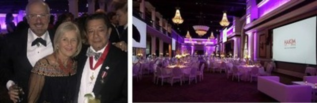 Friends and family of Sir Karim Hakimi gathered at the Liberty Grand to celebrate Hakim Optical's 50th anniversary. (CNW Group/Hakim Optical)