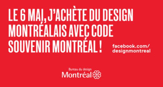 Le Bureau du design lance la première journée J'achète du design montréalais avec CODE SOUVENIR MONTRÉAL! (Groupe CNW/Ville de Montréal - Bureau du design)