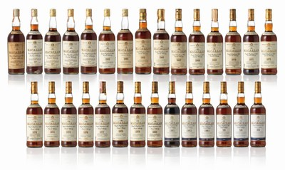 The Macallan 18-Year-Old Vertical Collection dating from 1958-1986 (PRNewsfoto/Le Clos)