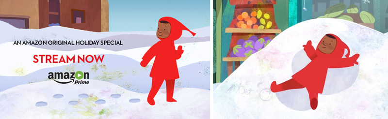 'The Snowy Day,' Amazon's animated film based on the children's classic by Ezra Jack Keats, has received five Daytime Emmy(R) Award nominations. It follows the adventures of  Keats' iconic character, Peter (pictured), on the way to his grandmother's house after a heavy snowfall. The film,  which is narrated by Laurence Fishburne and features the voices of Regina King, Angela Bassett and Jamie-Lynn Sigler, is available for streaming on Amazon Prime.  Photo credit: Amazon