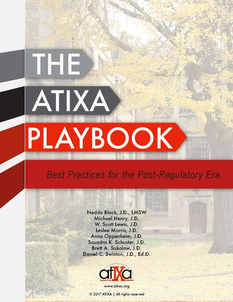 Announcing A New Publication From ATIXA - 'The ATIXA Playbook: Best Practices for the Post-Regulatory Era'