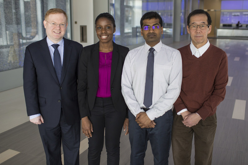 George Miller, MD, head of the Cancer Immunology Program at NYU Langone's Perlmutter Cancer Center; Donnele Daley, MD, and Vishnu Mani, MD, postdoctoral fellows in Dr. Miller's lab; and Atsuo Ochi, PhD, are among the authors of a study published April 10 in the journal Nature Medicine.