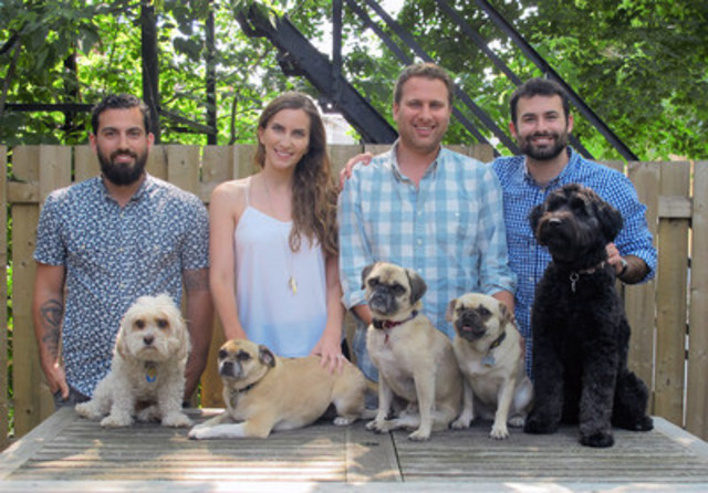 Open Farm cofounders and their furry friends (CNW Group/Open Farm)