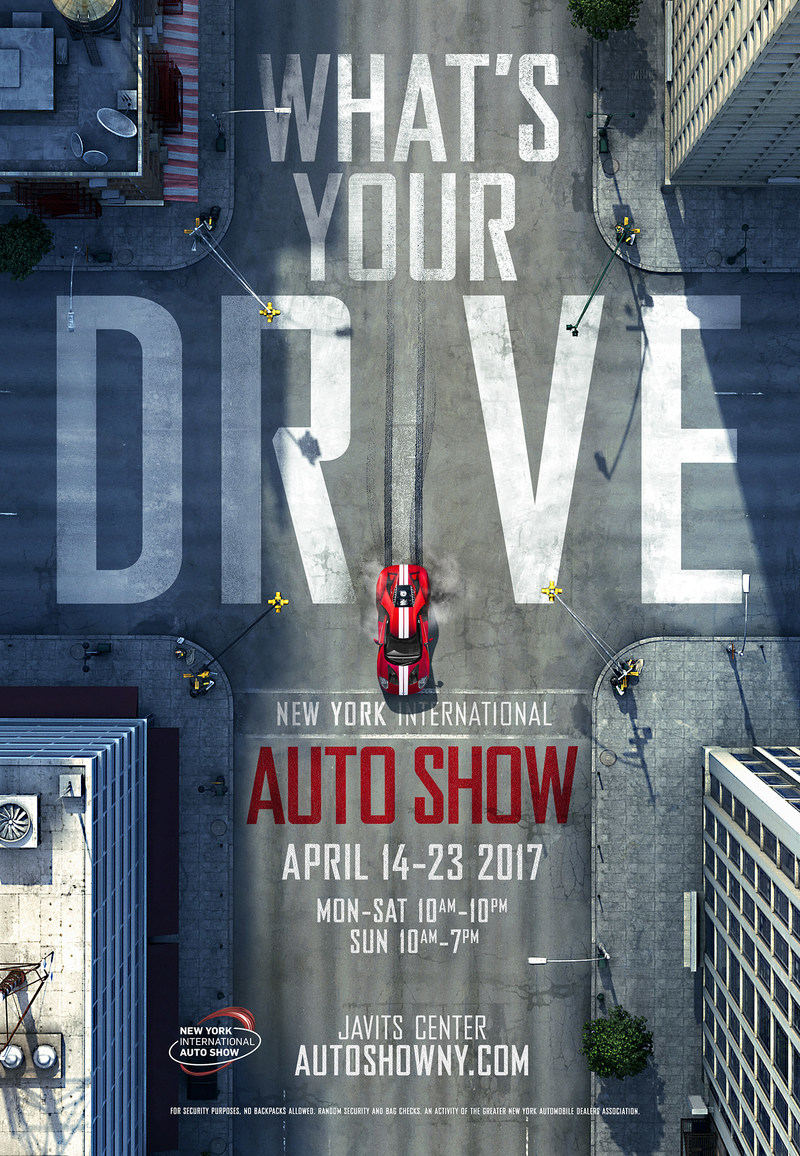 What's your drive?  The 2017 New York International Automobile Show poster art.