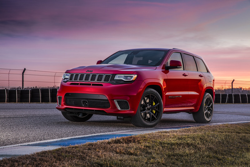 707-horsepower 2018 Jeep(R) Grand Cherokee Trackhawk is the most powerful and quickest SUV ever