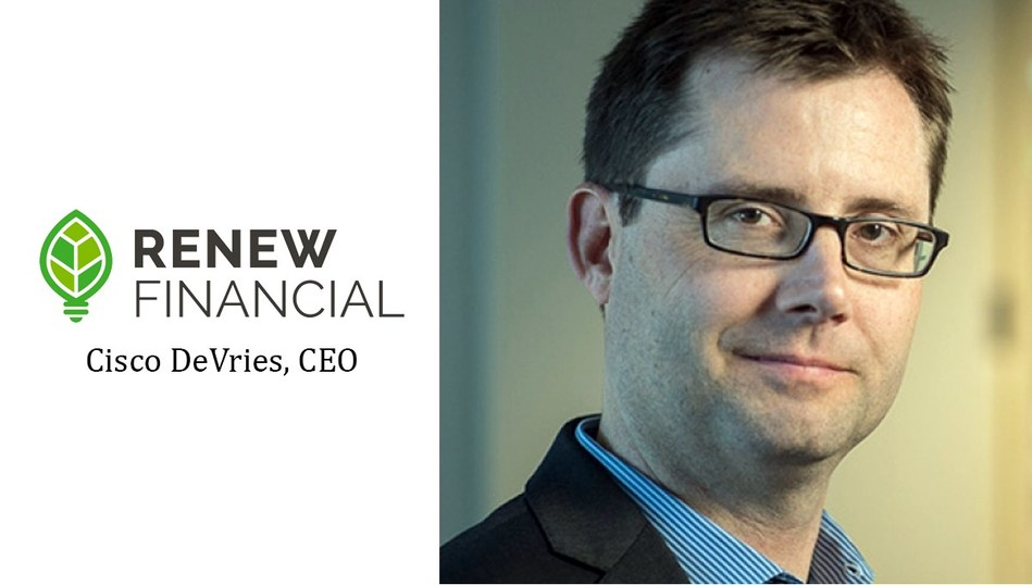 Cisco DeVries is Founder and CEO of Renew Financial Group LLC, one of the nation's largest clean energy finance companies.