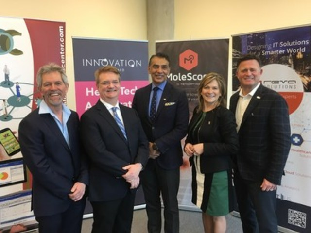 British Columbia's first of its kind HealthTech accelerator was announced today in Surrey, BC's HealthTech district. (CNW Group/BC Innovation Council)