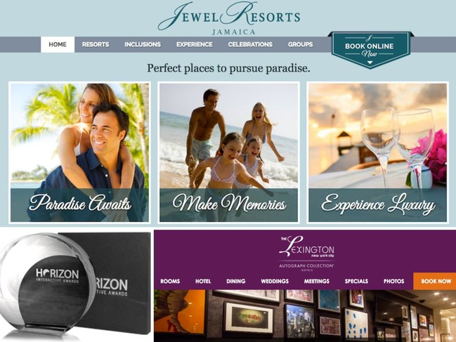 Wpromote, an El Segundo, CA-based digital marketing agency, recently earned four Horizon Interactive Awards for two of its clients' website builds in the categories of Responsive/Mobile Design and Travel & Tourism. The websites for Aimbridge Hospitality's Jewel Resorts (www.jewelresorts.com) and Marriott's The Lexington New York City, Autograph Collection (www.lexingtonhotelnyc.com) were praised for detailed local area information, attraction-based landing pages, enticing imagery, creative conte