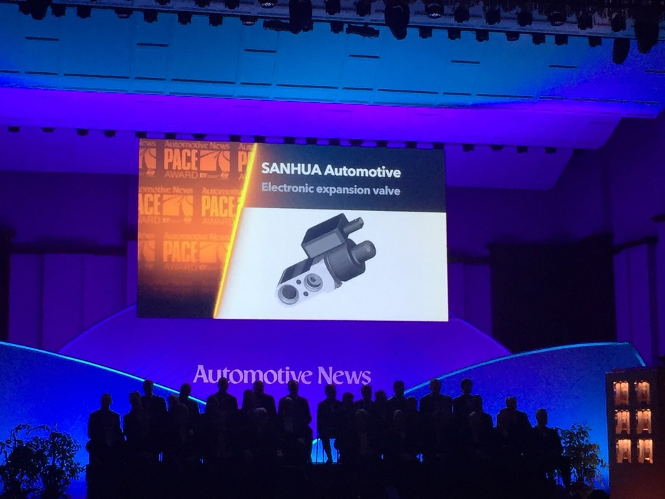 SANHUA Automotive Wins Automotive News' 2017 PACE Award