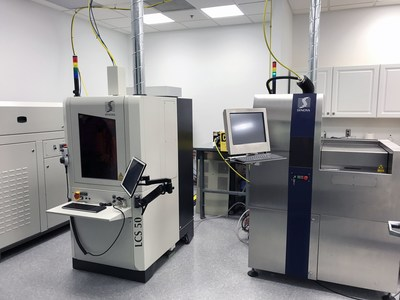 Synova, a leading manufacturer of high-precision laser cutting systems, has relocated its North American Micro-Machining Center (MMC) operations to Secaucus, NJ. The MMC offers laser machining services such as application trials, single and recurring cutting jobs and machine demonstrations. The new MMC will house two Laser MicroJet systems, the new 5-axis LCS 50 machine to be used for 3D shaping and machining, and the versatile LCS 300 for 2D machining of parts up to 300 mm x 300 mm in size. (PRNewsfoto/Synova S. A.)