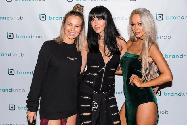 Model Imogen Anthony attended the BrandSnob event with friends Natalie Keys and Krystal Dawson.