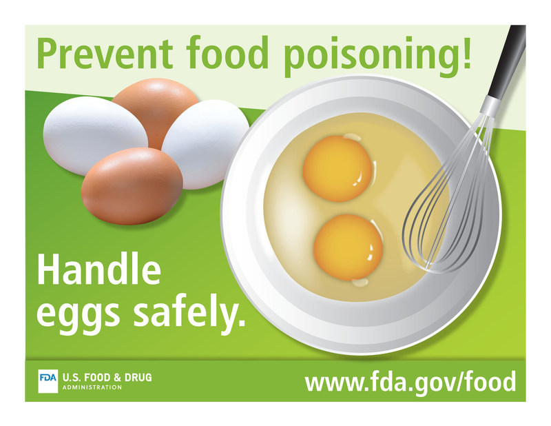 Prevent food poisoning!  Handle eggs safely.