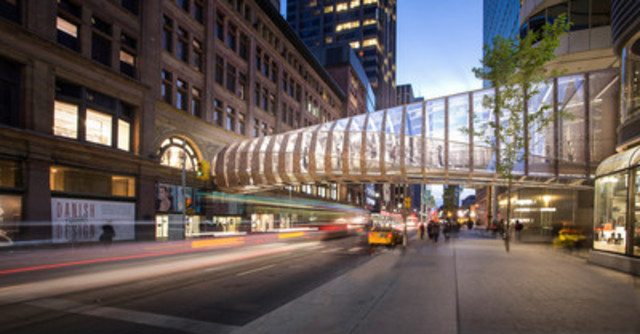 Cadillac Fairview Announces Innovative Design for New CF Toronto Eaton Centre Pedestrian Bridge (CNW Group/Cadillac Fairview Corporation Limited)