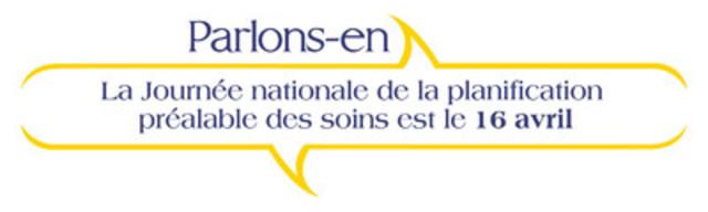 La Journée nationale de la planification préalable des soins est le 16 avril (Groupe CNW/Association canadienne de soins palliatifs)