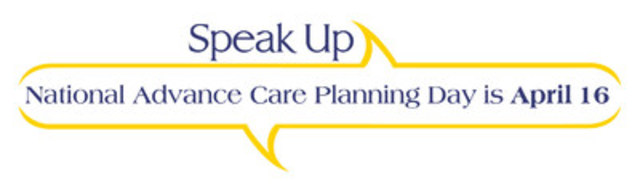 National Advance Care Planning Day is April 16 (CNW Group/Canadian Hospice Palliative Care Association)