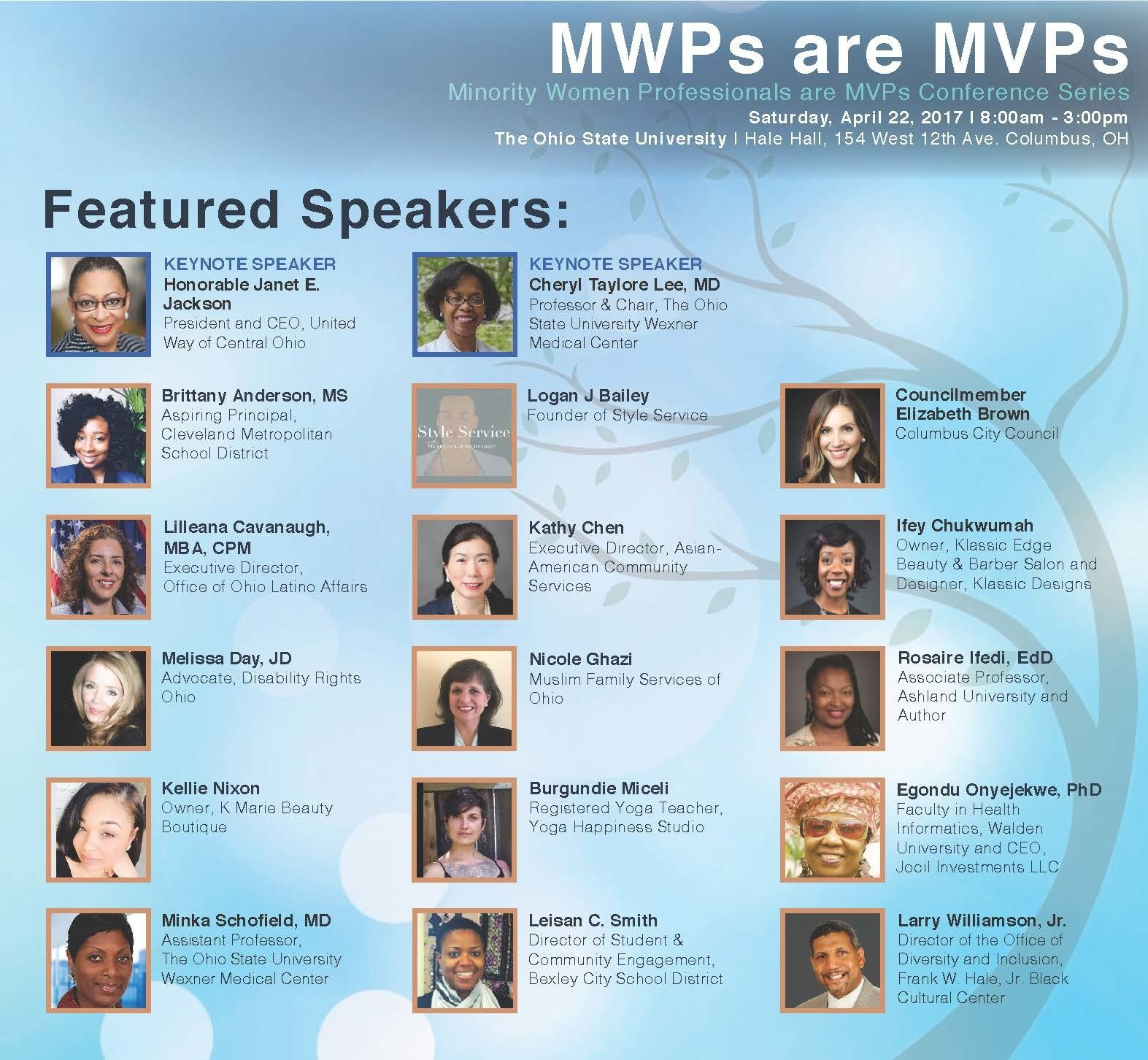 MWP Featured Speakers