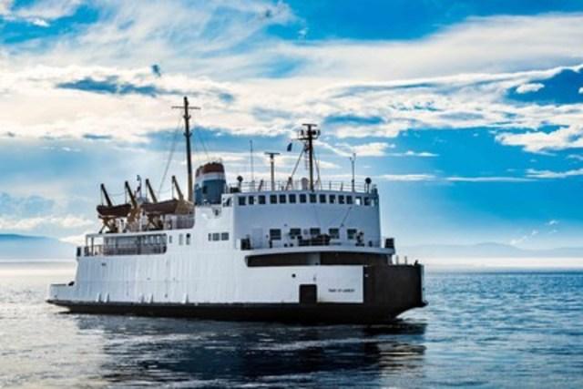 Le NM Trans St-Laurent, navire en service à la traverse de Rivière-du-Loup – Saint-Siméon. (Groupe CNW/Société des traversiers du Québec)