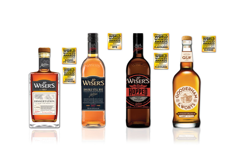 Corby Spirit and Wine Ltd. has once again proven that its Canadian whiskies are truly world-class! Six prestigious honours were awarded to J.P. Wiser's and Gooderham & Worts Canadian whiskies at the World Whiskies Awards. (CNW Group/Corby Spirit and Wine Communications)