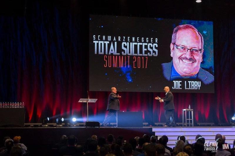 Joe Libby's presentation was introduced by Total Success Summit producer Glenn Twiddle.