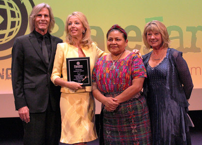 Special Jury member Princess Camilla Of Bourbon-Two Sicilies, Duchess Of Castro with Nobel Peace Laureate, Rigoberta Menchu and PeaceJam Foundation Co-Founders, Dawn Engle and Ivan Suvanjieff