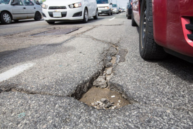 Year after year, votes for the Worst Roads campaign have helped to send a message to governments that proper maintenance and improvements to the existing road network are vital to keep the flow of goods and people moving at an efficient pace. (CNW Group/CAA South Central Ontario)