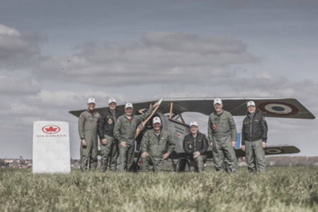Air Canada Proudly Supports Vimy Flight Flypast Commemorating the Battle of Vimy Ridge (CNW Group/Air Canada)