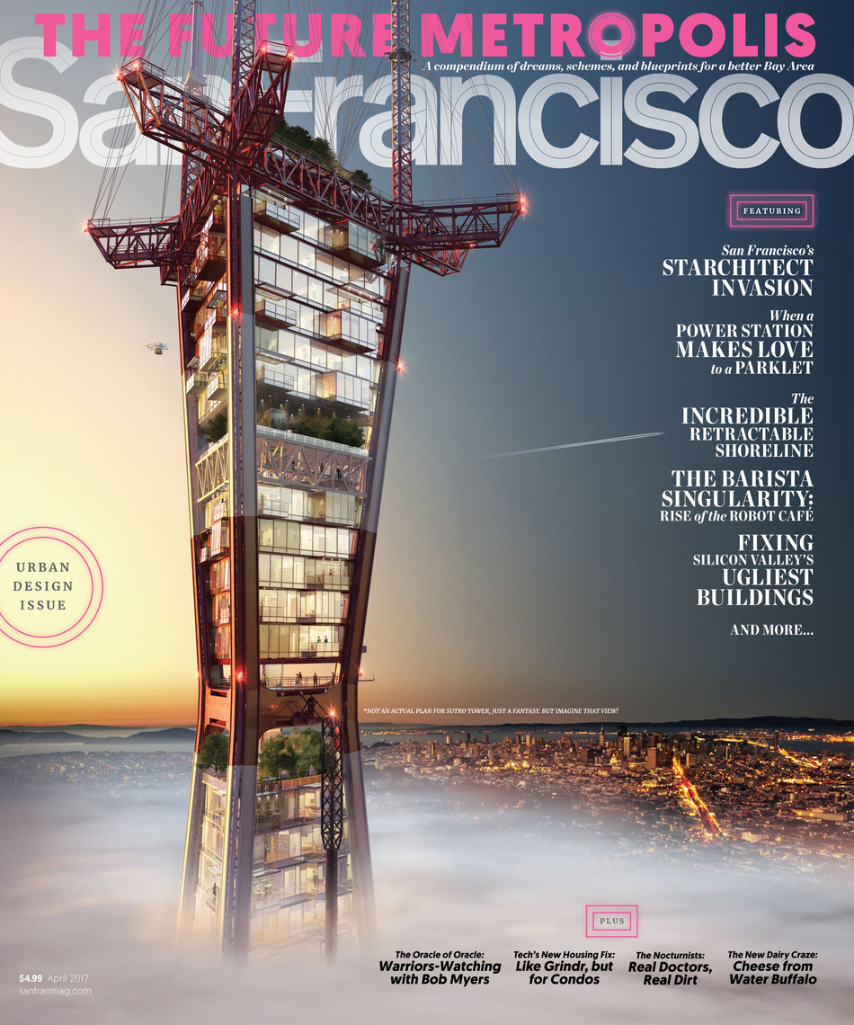 San Francisco Magazine Urban Design Issue - Cover rendering by Transparent House, April 2017.