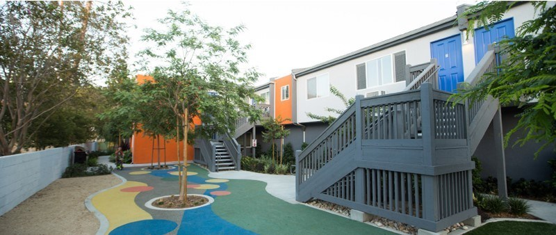 """Luther Burbank Savings provided financing for """"Miracle Manor,"""" a multi-unit apartment building that offers subsidized housing to families with children battling life-threatening illnesses."""
