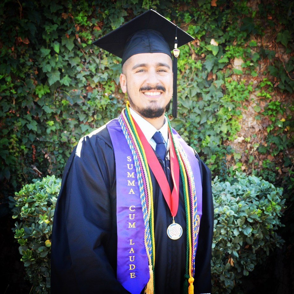 Robert Lobato, Jr., Ashford University's Alum of the Month. Lobato Jr.'s employer, T-Mobile, is a partner in Ashford's Leader Development Grant (LDG) Program, which provided Lobato Jr. the opportunity to attend college and earn his bachelor's degree.
