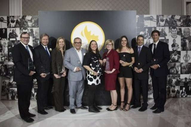 Swimmer Aurélie Rivard of St-Jean-sur Richelieu, Que., and cyclist Tristen Chernove of Cranbrook, B.C., were big winners on Friday night at the 2017 Canadian Paralympic Hall of Fame and Sport Awards ceremony held at the Infinity Centre in Ottawa. (CNW Group/Canadian Paralympic Committee (CPC))