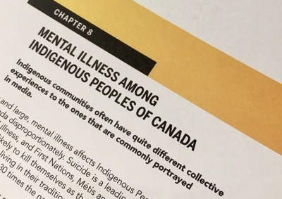 New chapter on covering Indigenous mental health added to second edition of Mindset: Reporting on Mental Health (CNW Group/Canadian Journalism Forum on Violence and Trauma)