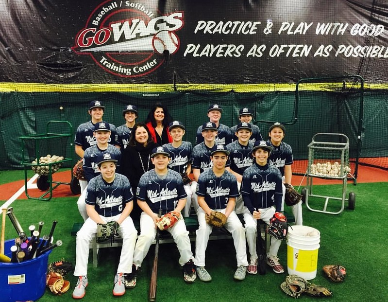 Left to right; Nell McCormack Abom and Lucy M. Gnazzo with 2015 Red Land Little League World Series U.S. Championship Team. Abom and Gnazzo win 2016 PR Daily Award for PR on a Shoestring Budget for representing the champions.