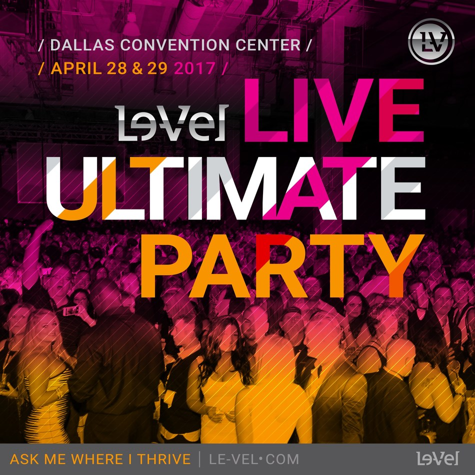 Le-Vel Presents the Ultimate Party in Dallas April 28-29 Featuring Pro Football MVP, All-Time Leading Rusher Emmitt Smith; Paralympic Bronze Medalist Amy Purdy