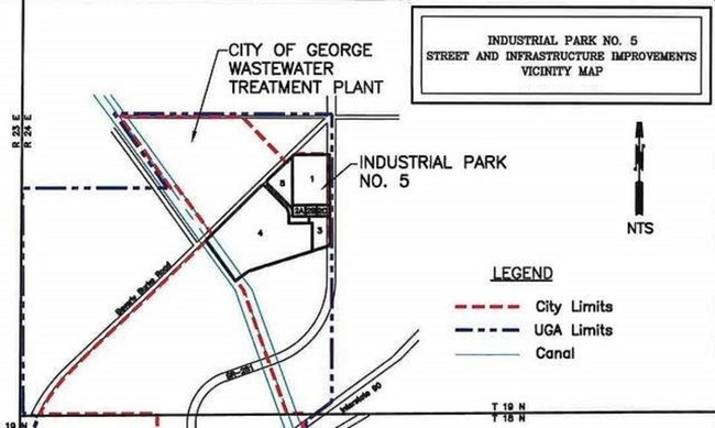 Map of Industrial Park 5 at George, WA